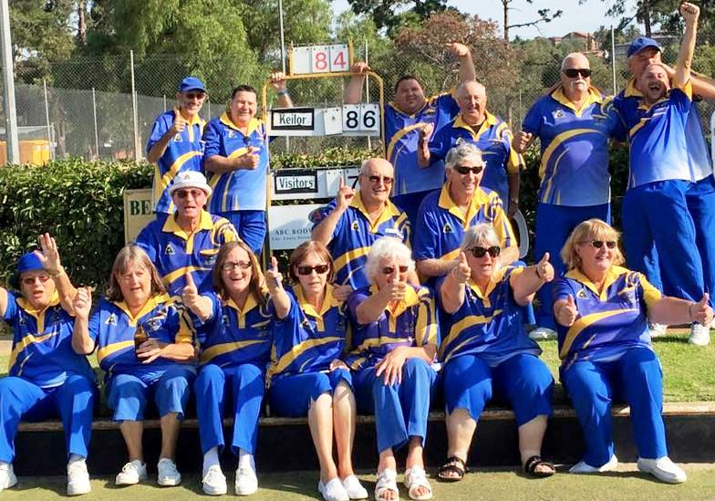 Laverton Bowls wins Section Flag Feb2016