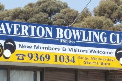 Laverton Bowls building sign